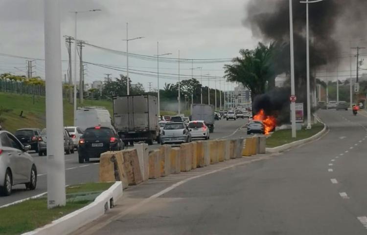 O incidente aconteceu por volta das 15h, no sentido centro - Foto: Anessa Soares l Cidadão Repórter