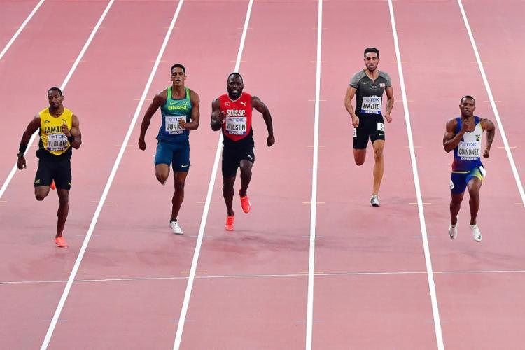 O brasileiro ficou em quarto lugar em sua bateria, sem tempo suficiente para avançar - Foto: Giuseppe Cacace l AFP