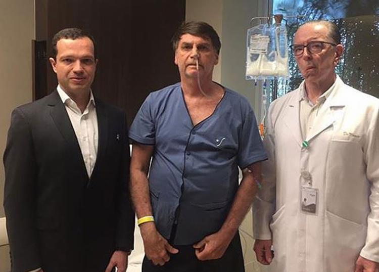 Bolsonaro continuava com uma sonda nasogástrica e recebendo alimentação pela veia - Foto: Reprodução l Instagram