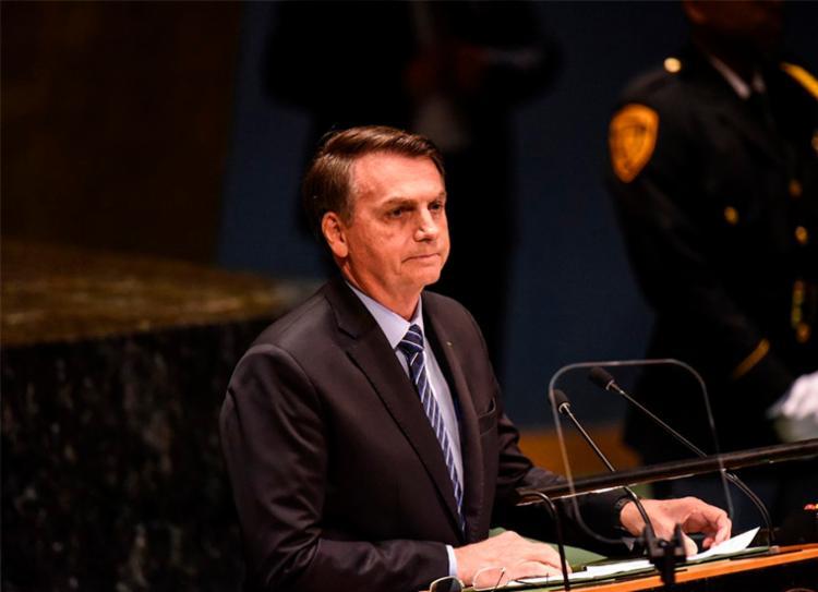 Bolsonaro defendeu a soberania do território brasileiro - Foto: Stephanie Keith | AFP