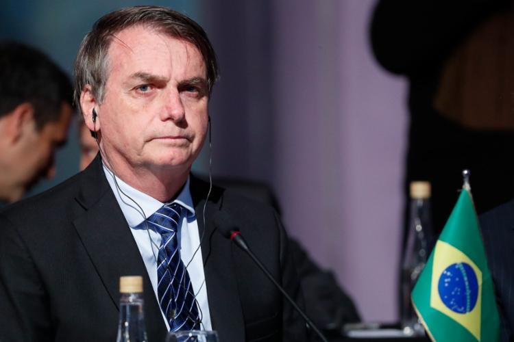 Bolsonaro voltou a afirmar que o incêndio na Amazônia acabaria se ele demarcasse novas terras indígenas ou quilombolas - Foto: Alan Santos | PR