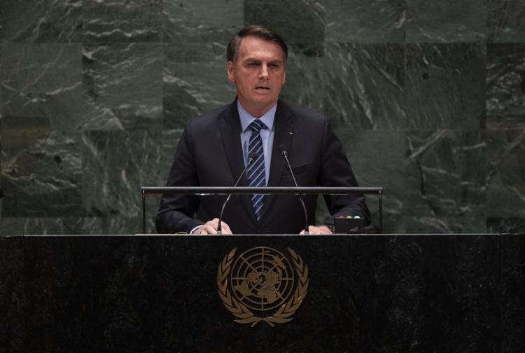 A declaração foi dada pós o presidente brasileiro ter criticado Macron na manhã desta terça em seu discurso - Foto: AFP