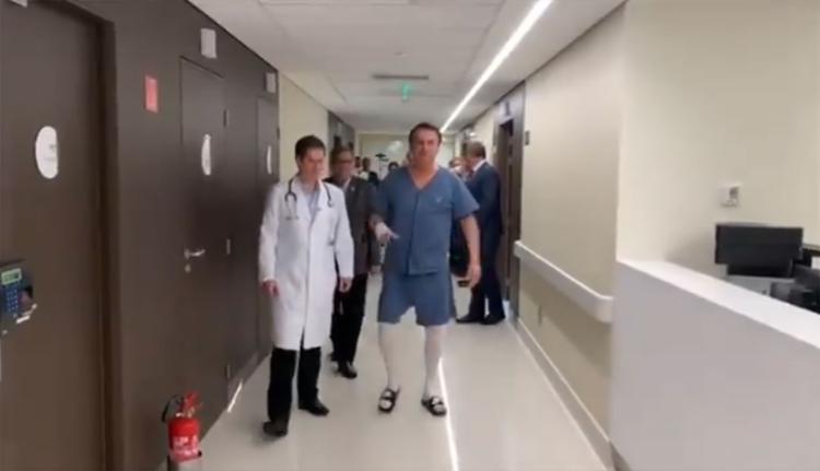 Presidente se recupera de cirurgia para correção de uma hérnia incisional realizada no domingo, 8 - Foto: Reprodução l Instagram
