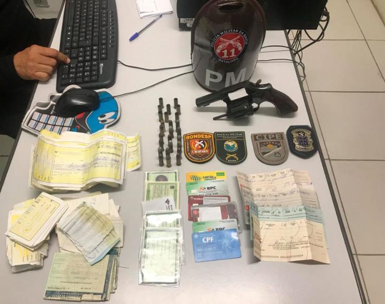 O material foi encontrado nos imóveis dos investigados - Foto: Divulgação | SSP