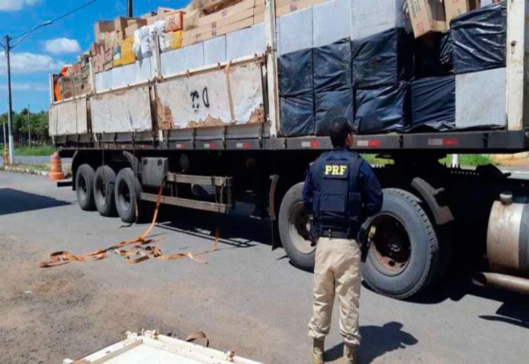Carga é avaliada em mais de um milhão de reais - Foto: Divulgação | PRF