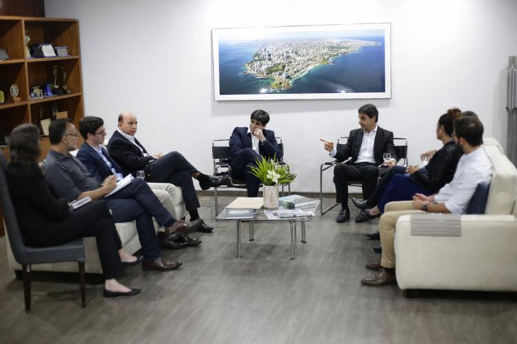 Cláudio Cunha e diretores da Ademi visitaram sede do Grupo A TARDE, onde anteciparam projeções para setor - Foto: Raphaël Müller l Ag. A TARDE l 25.9.2019