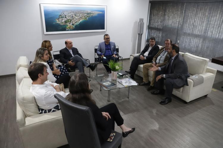 A diretoria da Rede FTC realizou uma visita de cortesia e apresentou seus projetos à direção do Grupo A TARDE - Foto: Uendel Galter l Ag. A TARDE