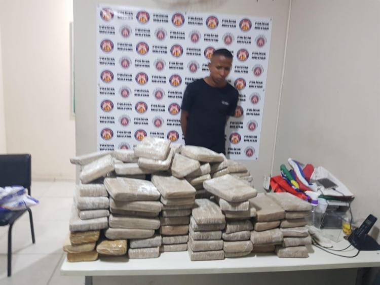 Ao todo, 137 quilos de maconha foram encontrados na ação - Foto: Divulgação   SSP