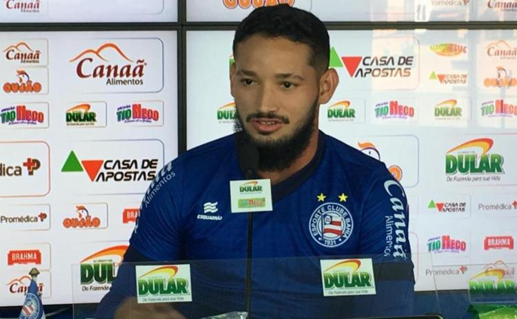 O atacante se disse feliz por voltar a marcar com a camisa do Tricolor - Foto: Divulgação | EC Bahia