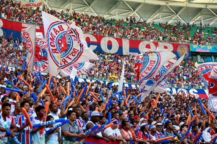 A promoção será válida para todos os torcedores que estiveram usando a camisa do Bahia - Foto: Felipe Oliveira | EC Bahia