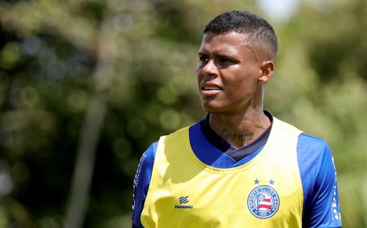 O atacante atuou por apenas oito partidas e marcou um gol - Foto: Felipe Oliveira | EC Bahia