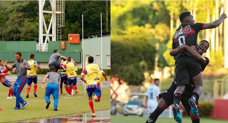 Caso avancem, as equipes baianas podem se enfrentar na decisão - Foto: Felipe Oliveira   EC Bahia e Tiago Caldas   EC Vitória
