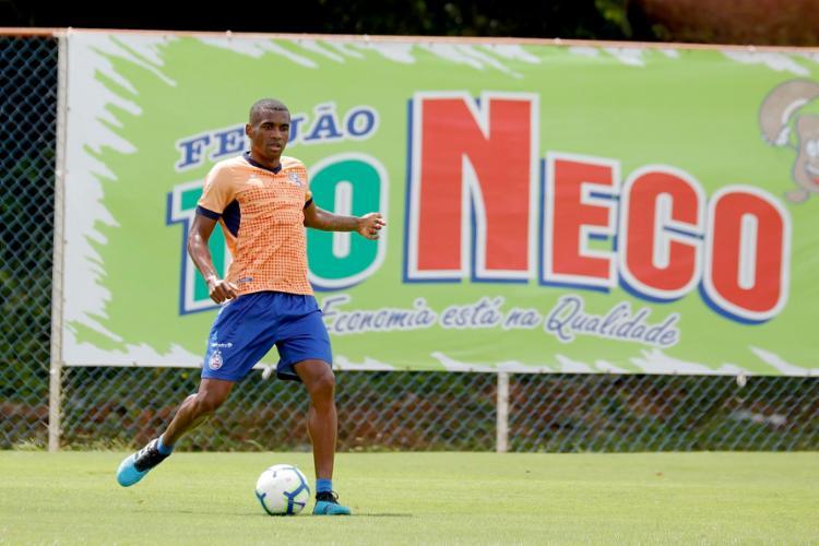 Desde julho no Tricolor, Marllon não chegou a disputar jogo pela equipe - Foto: Felipe Oliveira | EC Bahia