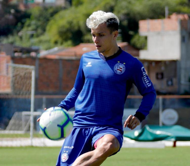 O atacante, que estava com a seleção brasileira Olímpica, não participou do trabalho - Foto: Felipe Oliveira   EC Bahia
