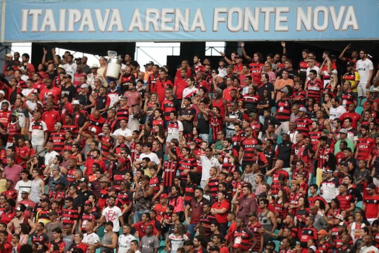 O caso aconteceu no jogo contra o Guarani, na estreia do Leão na nova casa - Foto: Adilton Venegeroles | Ag. A TARDE