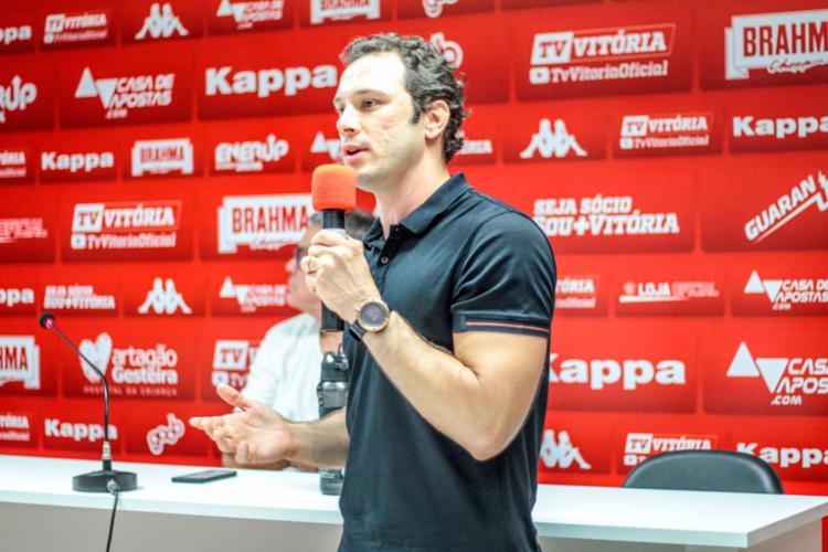 Bruno Pivetti apresentou as ideias para um processo de formação de atletas em longo prazo - Foto: Letícia Martins | EC Vitória