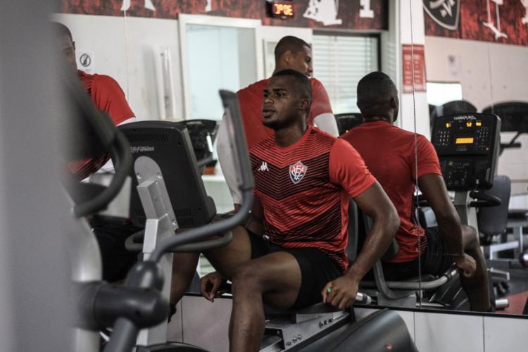Atletas que atuaram contra o Atlético-GO ficaram na academia do clube - Foto: Letícia Martins | EC Vitória