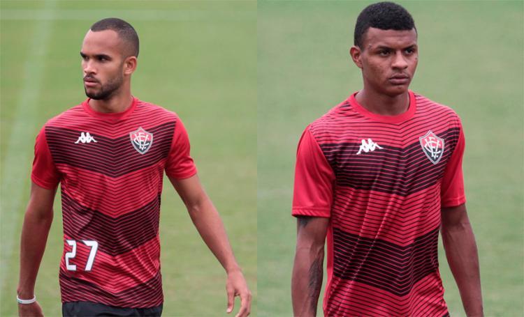 Atletas ainda não assinaram com o Rubro-Negro, mas participaram normalmente das atividades desta sexta-feira, 6 - Foto: Letícia Martins | EC Vitória