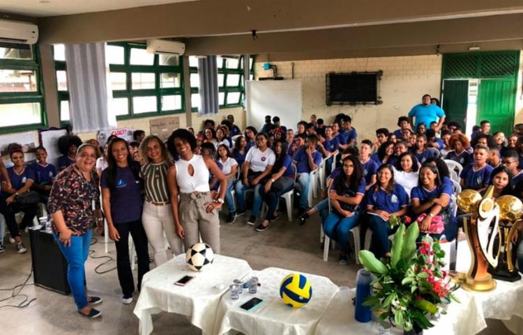 Convidadas falaram sobre a inclusão das mulheres no esporte - Foto: Divulgação   Secretaria da Educação