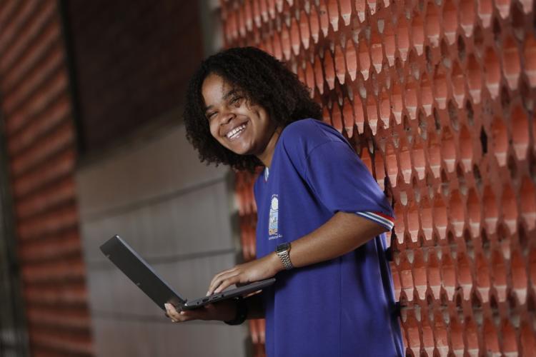 Ana Beatriz Santos, 13, não gostava de matemática e agora quer ser engenheira