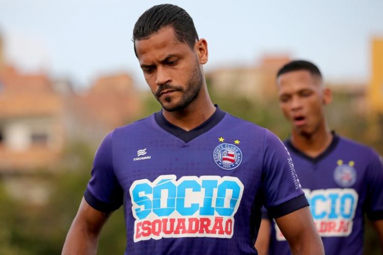 Elton está sem atuar desde o confronto contra o Grêmio, pela Copa do Brasil, em julho - Foto: Felipe Oliveira   EC Bahia