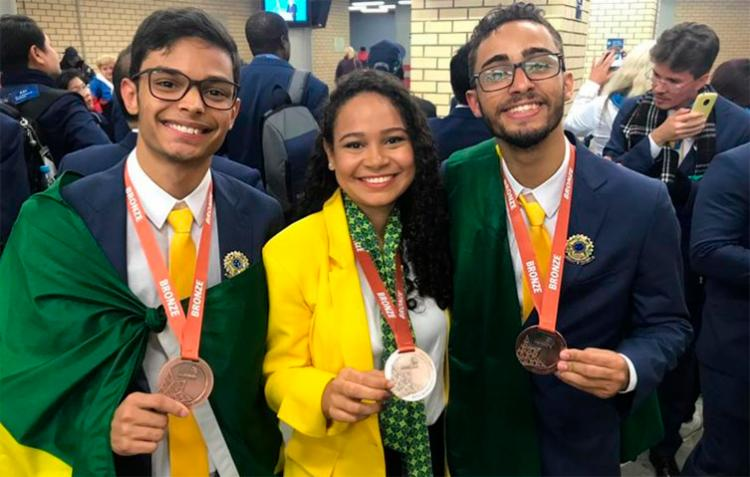 Estudantes se destacaram em evento conhecido como o mundial das profissões - Foto: Arquivo Pessoal