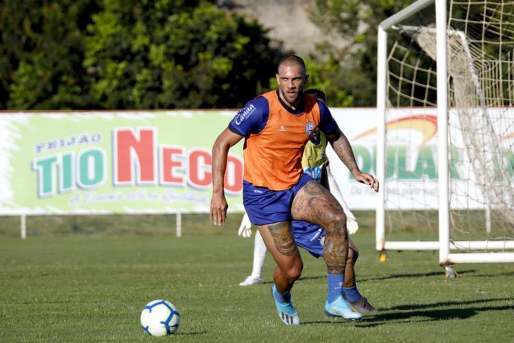 Os jogadores participaram de atividade com bola no CT - Foto: Felipe Oliveira l EC Bahia