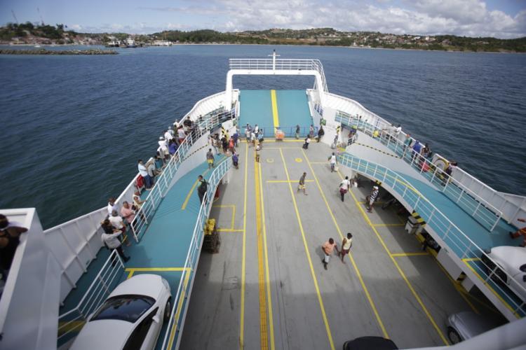No momento do ocorrido, o Ferryboat estava desligado - Foto: Raul Spinassé | Ag. A TARDE