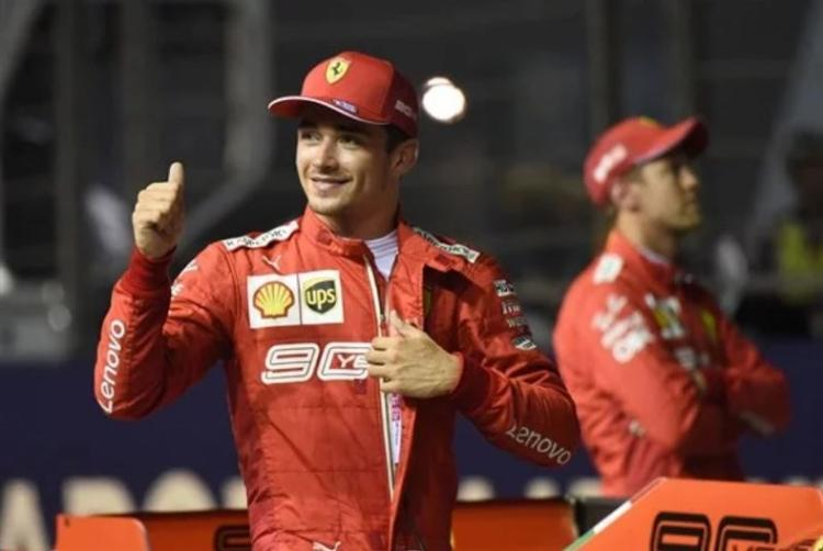 Jovem piloto da Ferrari fez melhor volta e cravou 1min36s217 - Foto: Divulgação | AFP