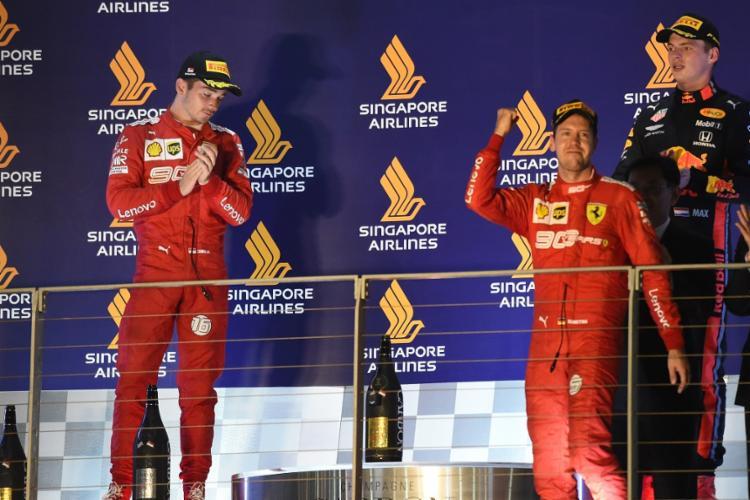 A última vez que Vettel venceu uma corrida havia sido no GP da Bélgica de 2018 - Foto: Roslan Rahman | AFP