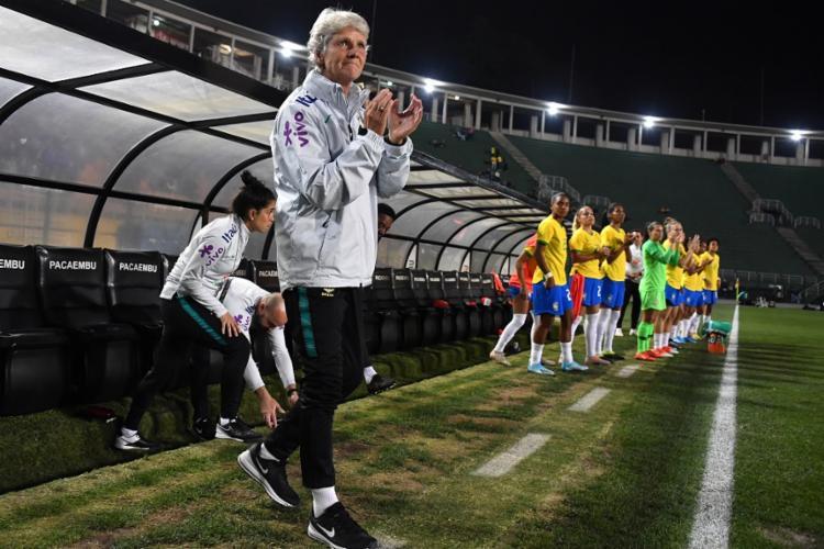 Na estreia de Pia, a Seleção goleou a Argentina pelo placar de 5 a 0 - Foto: Nelson Almeida | AFP
