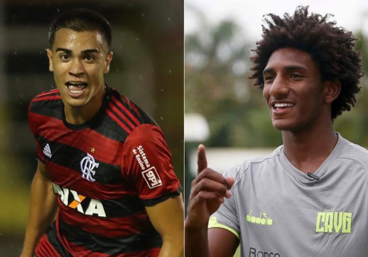 Talles Magno e Reinier já foram, inclusive, liberados de servir a seleção sub-17 - Foto: Gilvan de Souza | Flamengo e Rafael Ribeiro | Vasco