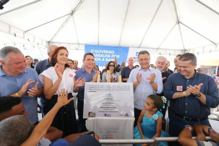 O governador Rui Costa também atutorizou a construção das pontes sobre o Rio Buranhém, na BA-283, e sobre o Rio dos Frades, na BA-686. - Foto: Paula Fróes_GOVBA