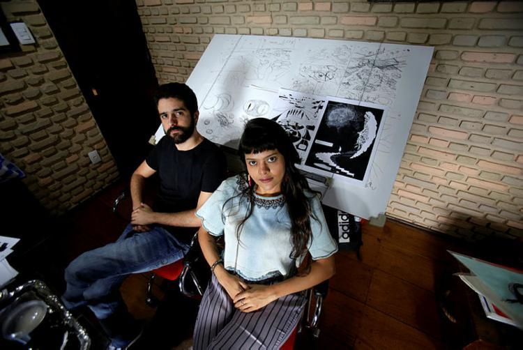 Igor Albuquerque e Amine Barbuda lançam HQ futurista - Foto: Adilton Venegeroles/Ag. A TARDE