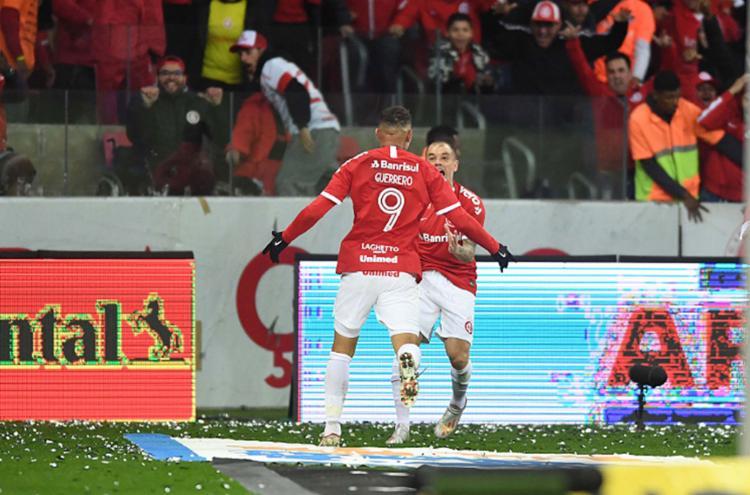 O grande destaque do triunfo foi Paolo Guerrero, autor de dois gols - Foto: Reprodução l Twitter l @SCInternacional