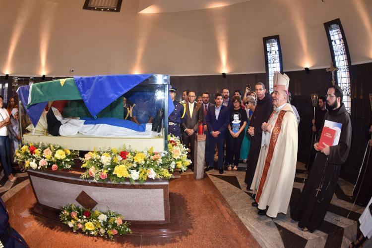 Arcebispo dom Murilo Krieger em cerimônia na quarta-feira, 18 - Foto: Max Haack (Secom-PMS) l Divulgação
