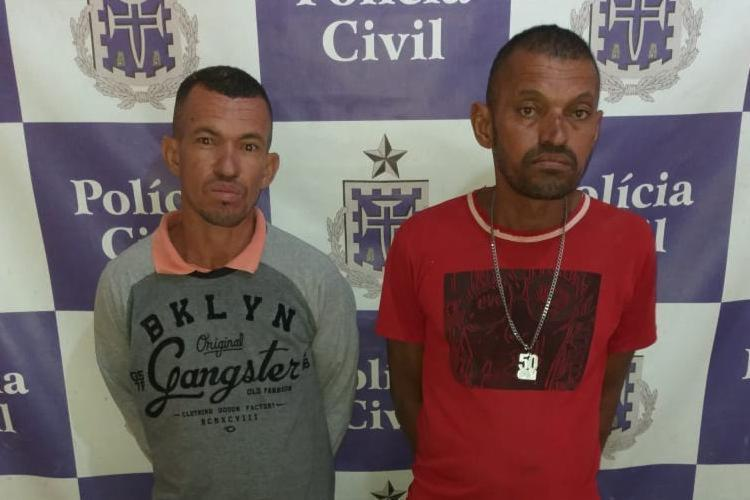 Valdemir e Valdenilson foram detidos em flagrante por tráfico de drogas - Foto: Divulgação | Polícia Civil