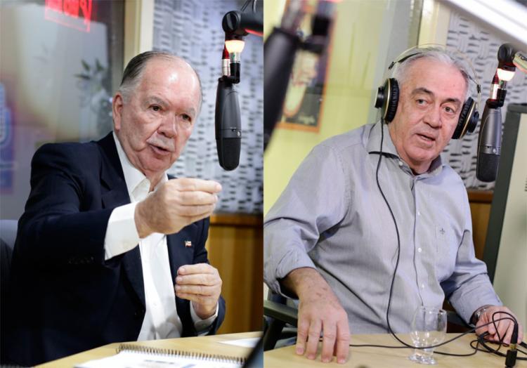 João Leão (PP), à esq., e Otto Alencar (PSD) - Foto: Raul Spinassé l Ag. A TARDE