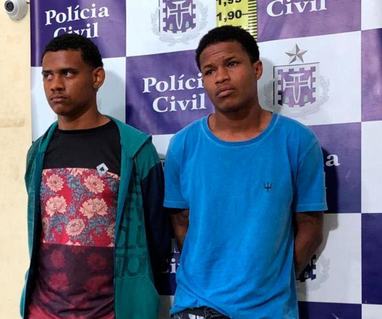 Um dos suspeitos já possui passagens por por homicídio, tráfico de drogas e porte ilegal de arma de fogo - Foto: Divulgação   Ascom-PC