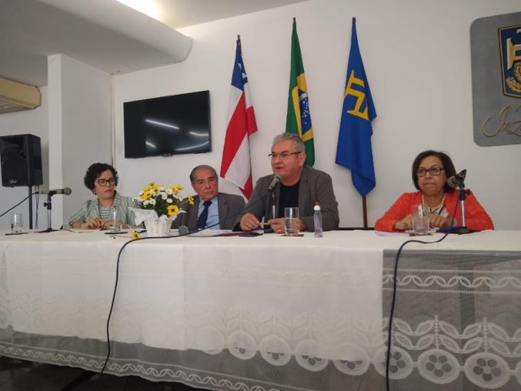Deputada palestrou sobre notícias falsas na ABI nesta sexta - Foto: Raul Aguilar | Ag A TARDE