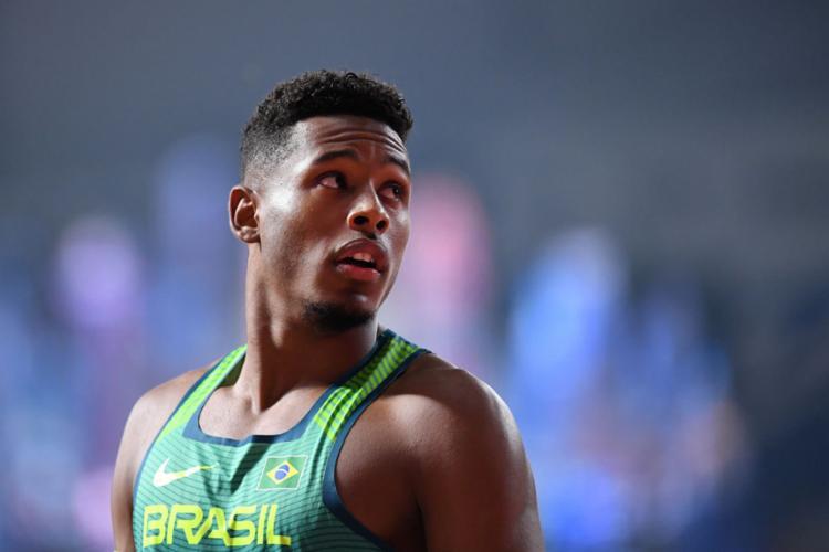 O brasileiro fez o tempo de 10s14 e ficou em 12º no geral - Foto: Jewel Samad l AFP