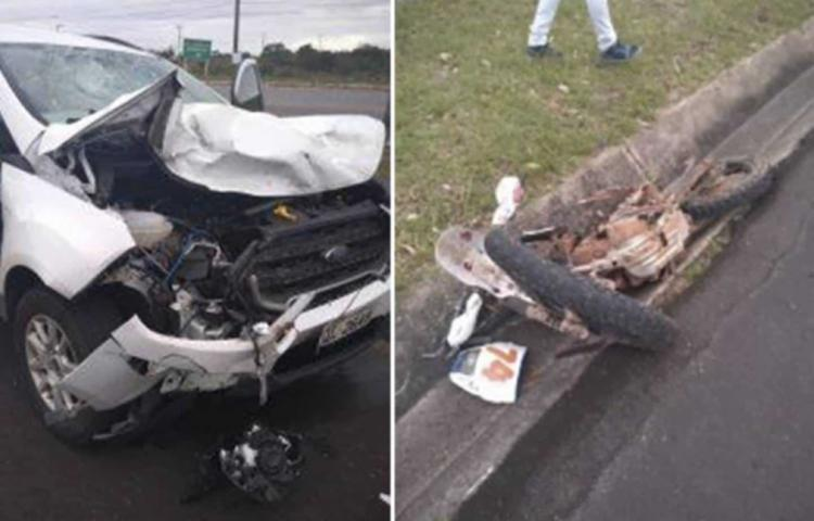 Vítima estava pilotando uma motocicleta - Foto: Reprodução | Simões Filho Online