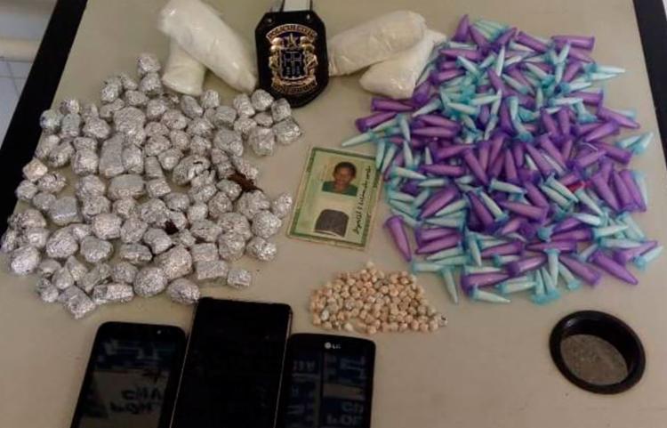 Material ilícito foi encaminhado ao DPT - Foto: Divulgação | Polícia Civil