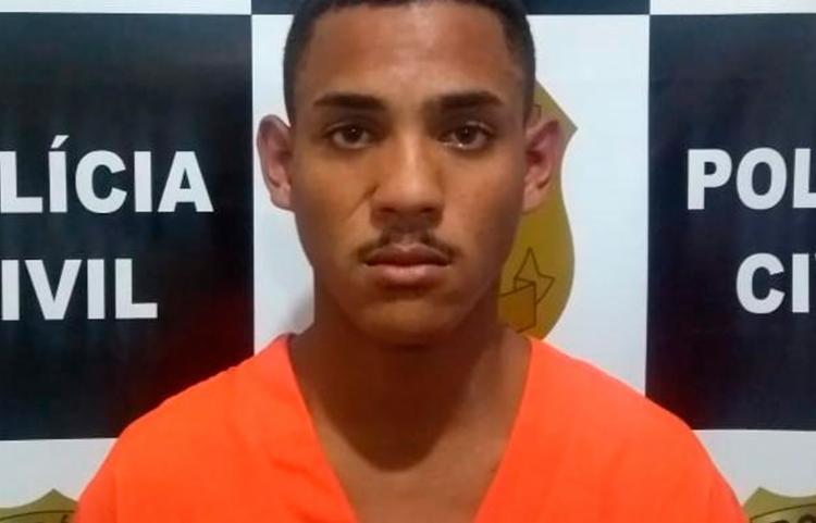Jhemison Oliveira Santos é apontado pela polícia por envolvimento com o tráfico de drogas na região - Foto: Divulgação   Polícia Civil