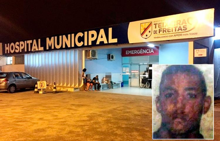 Vítima foi socorrida para o Hospital Municipal de Teixeira de Freitas - Foto: Reprodução   Teixeira Hoje