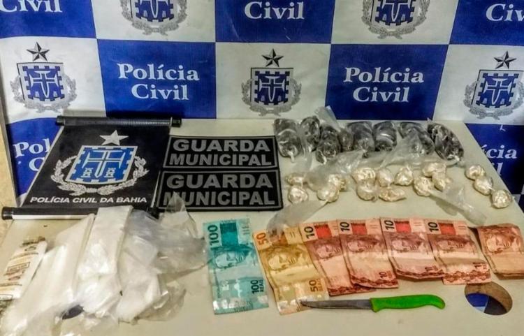 Entorpecentes foram encaminhados para o Departamento de Polícia Técnica (DPT). - Foto: Divulgação | Polícia Civil