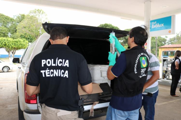 Vinte quatro postos de gasolina foram fiscalizados - Foto: Divulgação   Sefaz
