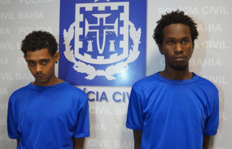 Taylor e Jadeilton foram apresentados pela Polícia Civil nesta quarta - Foto: Divulgação   SSP