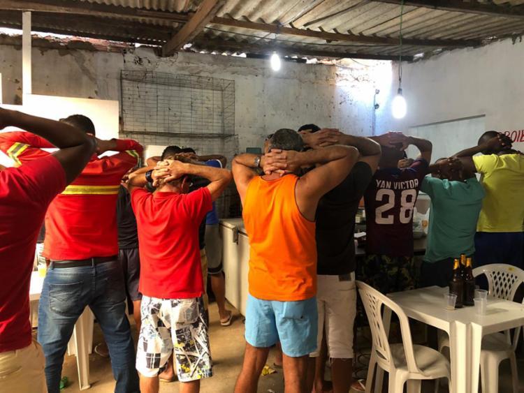 A ação apreendeu 40 galos, medicamentos, anabolizantes, controle de apostas, seringas e esporas artificiais. - Foto: Divulgação | SSP