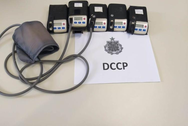 Os equipamentos foram roubados em um hospital particular, no bairro da Pituba - Foto: Divulgação | Polícia Civil